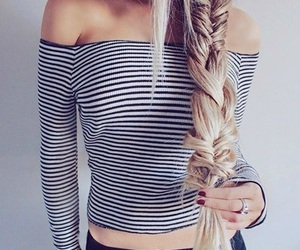 fashion, braid, and clothes image