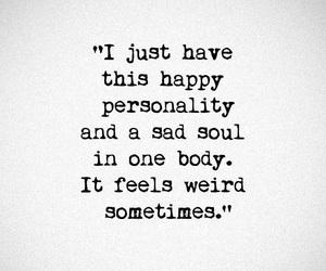 happy, personality, and sad image