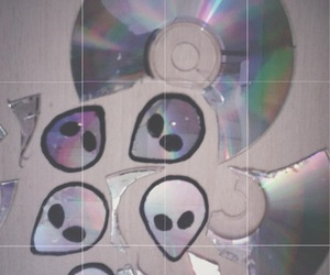 alien, grunge, and cd image