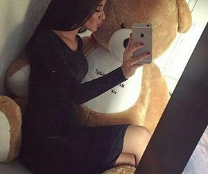 love, girl, and bear image