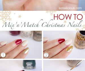 christmas, nails, and diy image