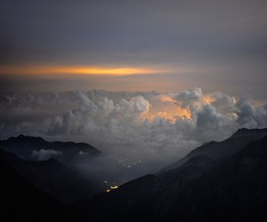 clouds, dark, and light image