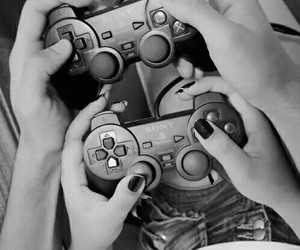 black and white, fotos, and games image