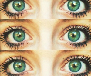 girl, eyes, and green eyes image