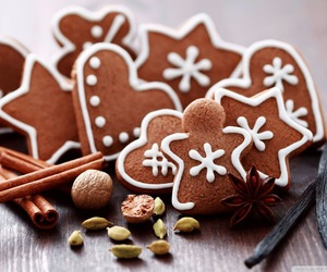 christmas, gingerbread, and Cookies image
