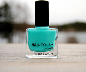 nail polish, H&M, and blue image