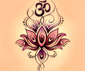 lotus, om, and tattoo image