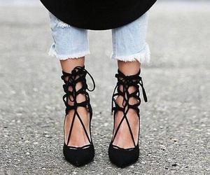 shoes, stylish, and black image