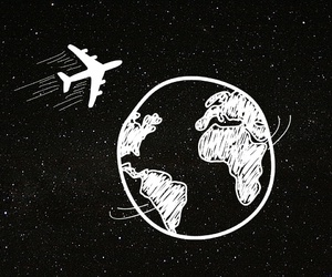 leave, night, and plane image