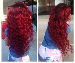 hair, red, and long hair image