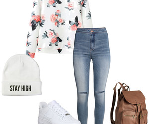 beautiful, clothes, and flowers image