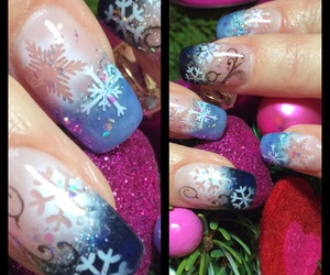 Airbrush, blue, and christmas image