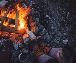 cold, date, and fire image