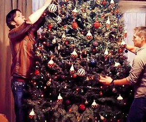 supernatural, christmas, and dean winchester image