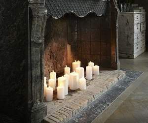 candles, fireplace, and inspiration image