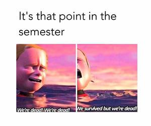 college, finals, and exams image
