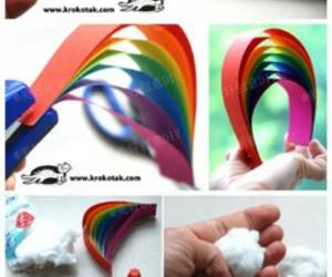 rainbow, diy, and crafts image