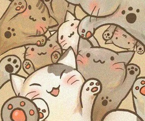cat, wallpaper, and kawaii image