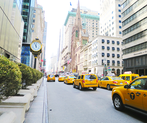 taxi, city, and new york image