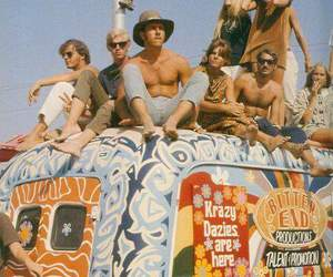 hippie, hippies, and woodstock image