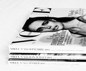 vogue, magazine, and black and white image