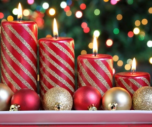 christmas, candle, and light image