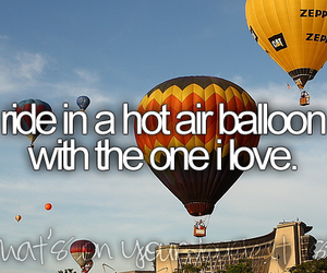 hot air balloon, bucket list, and balloon image