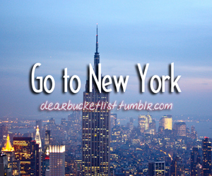 before i die, new york, and dearbucketlist image