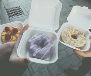 donuts, doughnut, and sugar image