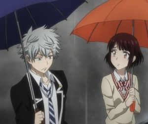 anime, rain, and yamada-kun to nin no majo image