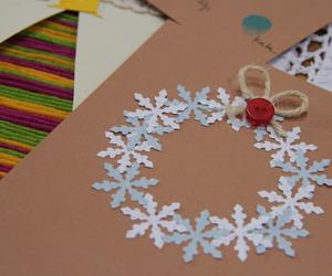 christmas, christmas card, and diy image