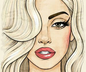 drawing, Lady gaga, and art image