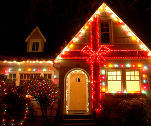 christmas, holiday, and house image