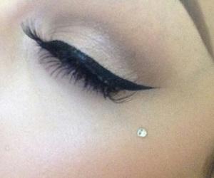 eyelashes, eyeliner, and on point image