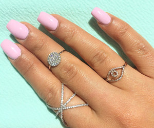 etsy, stack rings, and evil eye ring image