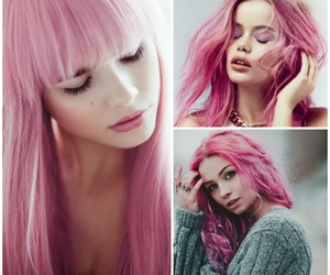 pink, style, and hair image