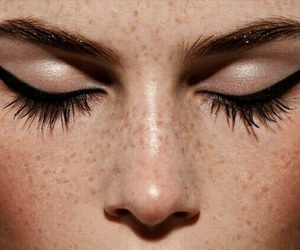 makeup, beauty, and freckles image