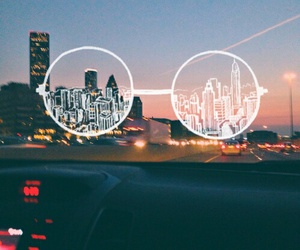 city, hipster, and glasses image