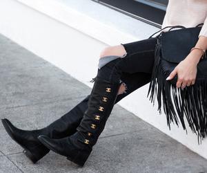 winter boots, sotd, and fashionlush image