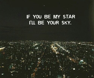 sky, stars, and my love image