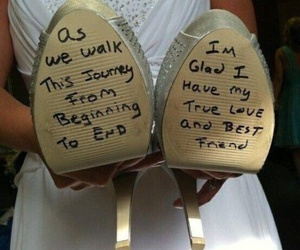 wedding, shoes, and bride image