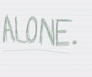 alone, quote, and notebook image