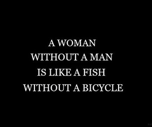 bicycle, feminist, and fish image