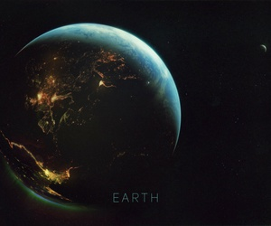 earth, galaxy, and planet image