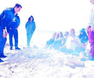 beach, spring, and friends image