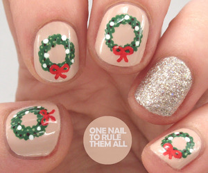 nails, bow, and dots image