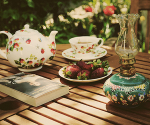 floral, outdoors, and teapot image