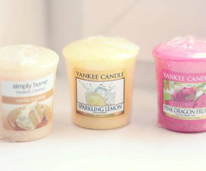 candles, pastel, and pink image