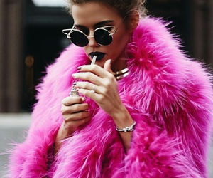 pink, model, and style image