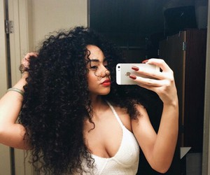 curly hair, hair, and curls image
